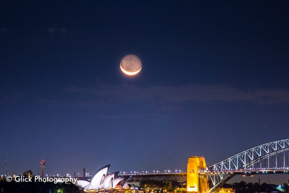 City Moonset