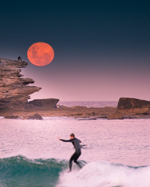 Moonrise Surfing